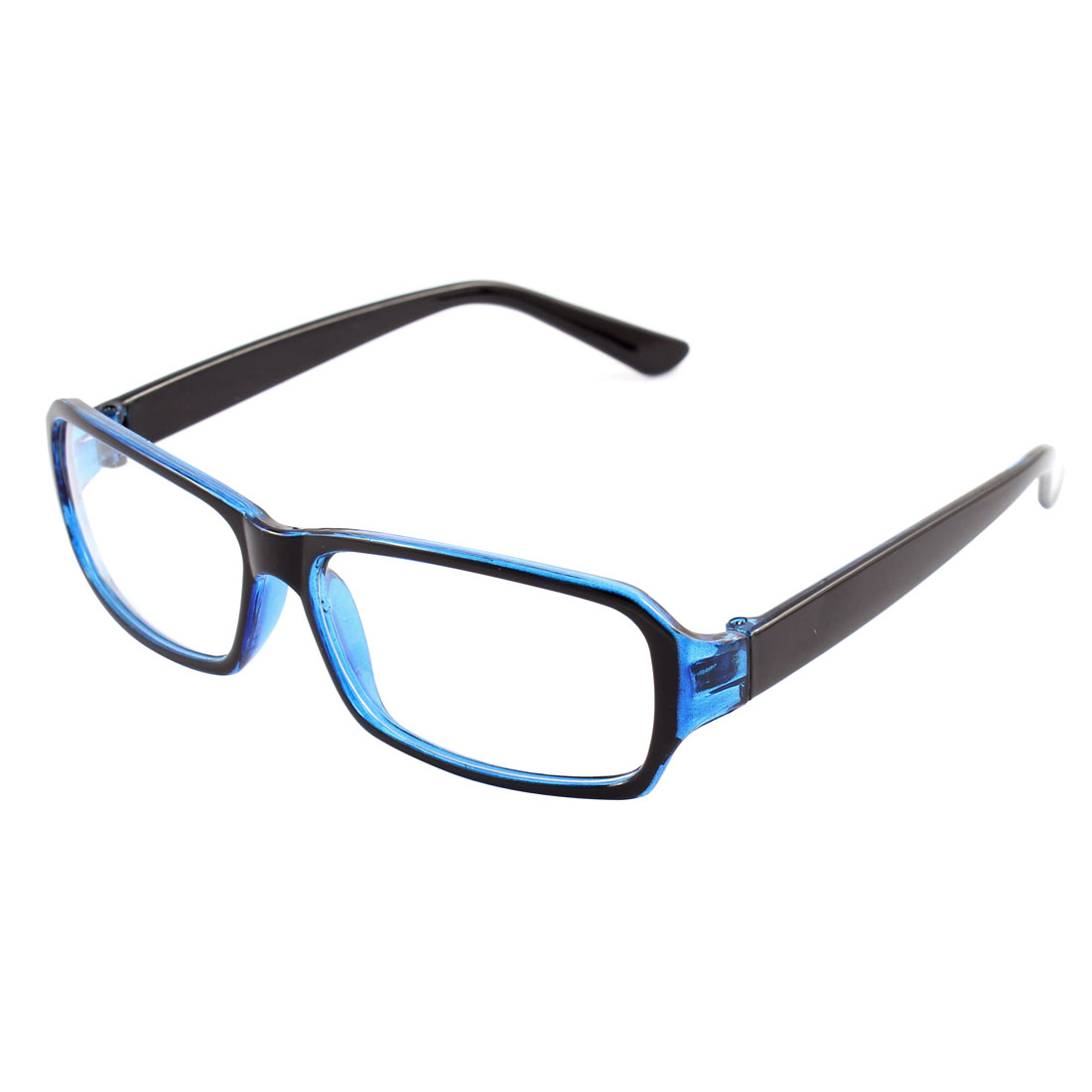 Unisex Full Rim Slim Temple Eyeglasses Eyewear Spectacles Black Blue