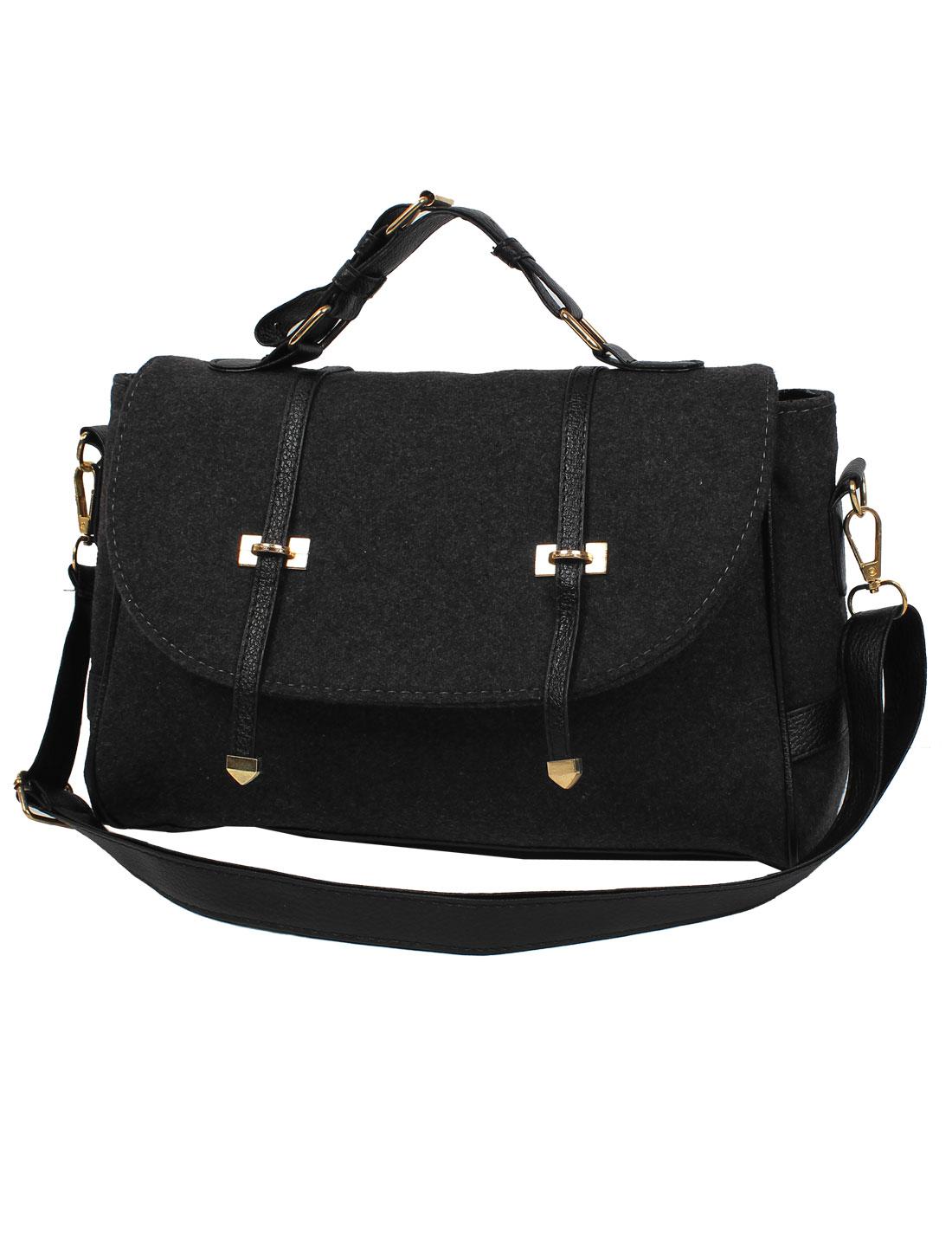 Fashion Nubuck Leather New Women Handbag Tote Shoulder Messenger Hobo Bag Black