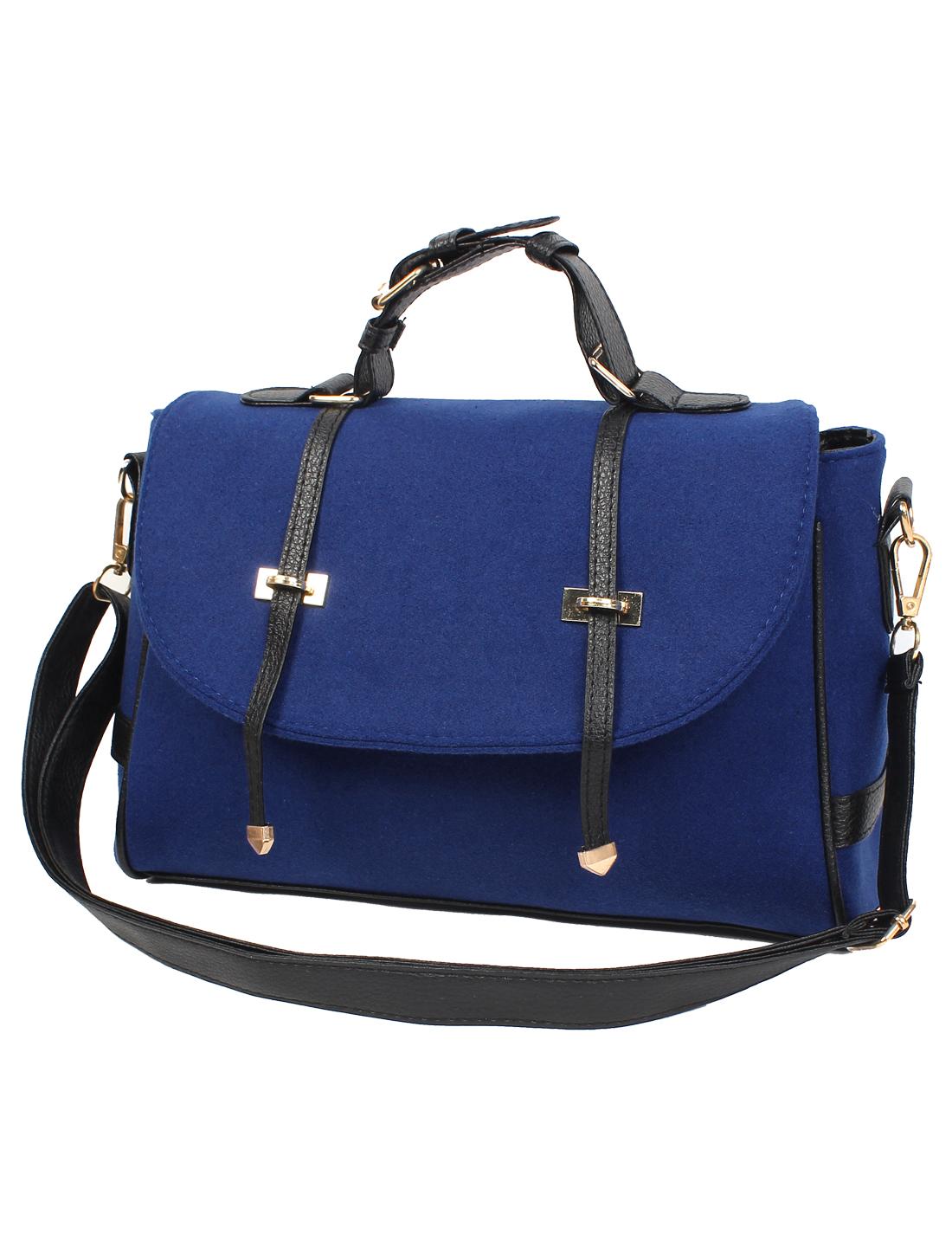 Fashion Nubuck Leather New Women Handbag Tote Shoulder Messenger Hobo Bag Blue