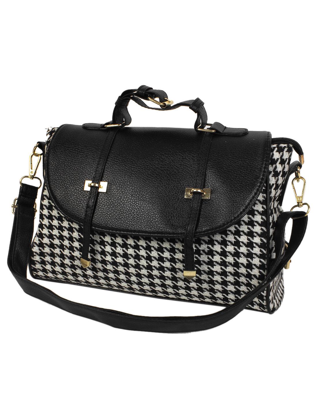 2015 Elegant New Women Houndstooth Double Arrow Handbag Shoulder Bag Tote