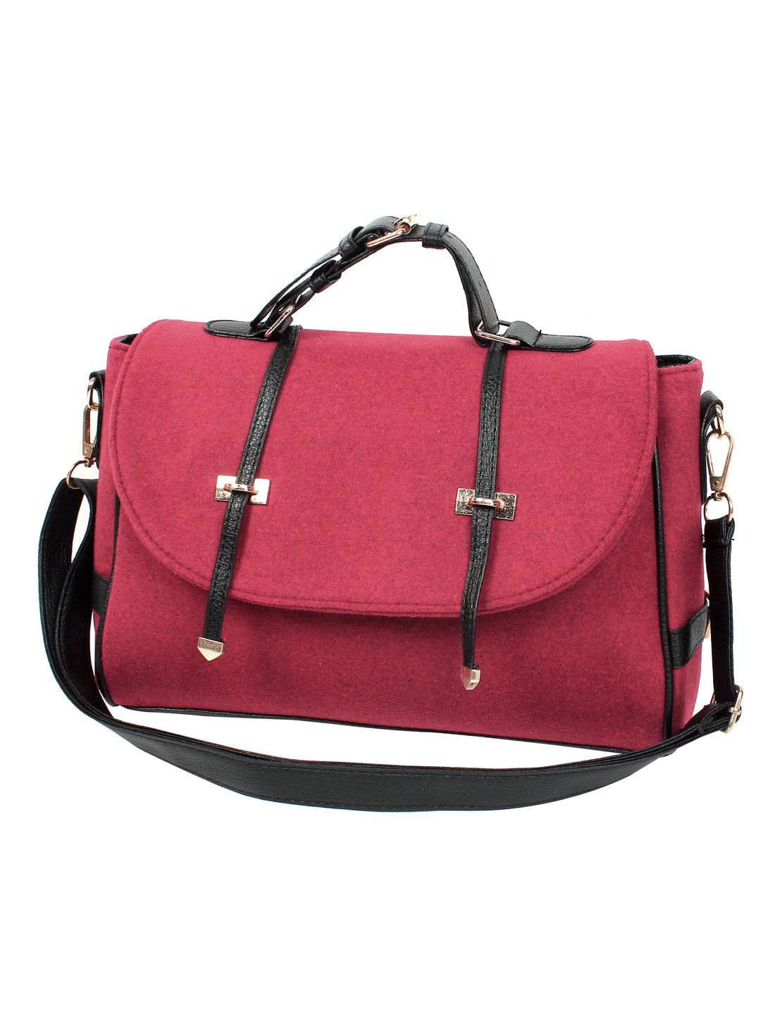 Fashion Nubuck Leather New Women Handbag Tote Shoulder Messenger Hobo Bag Red