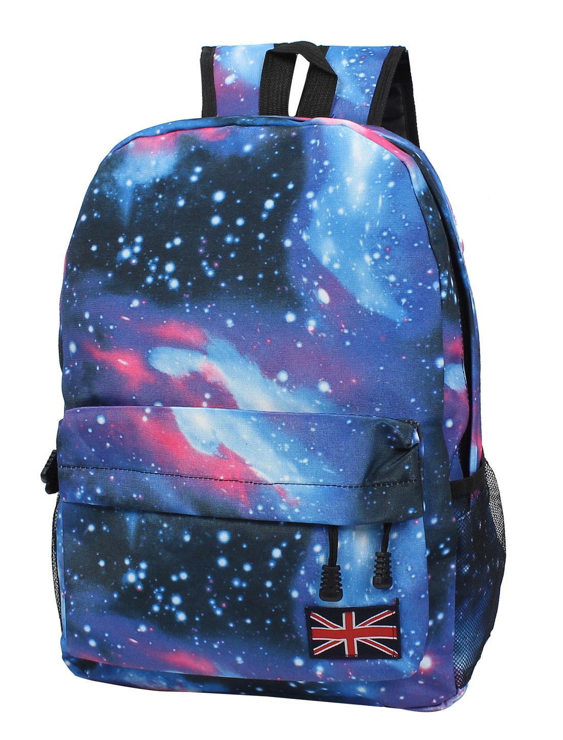 New Galaxy Space Backpack Rucksack Canvas Bag School Bookbag Satchel Blue