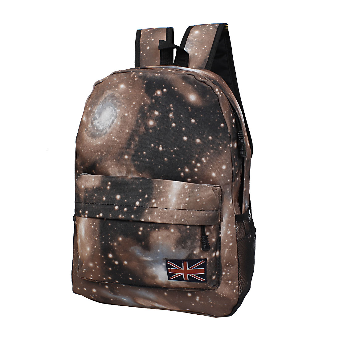 New Galaxy Space Backpack Rucksack Canvas Bag School Bookbag Satchel Brown
