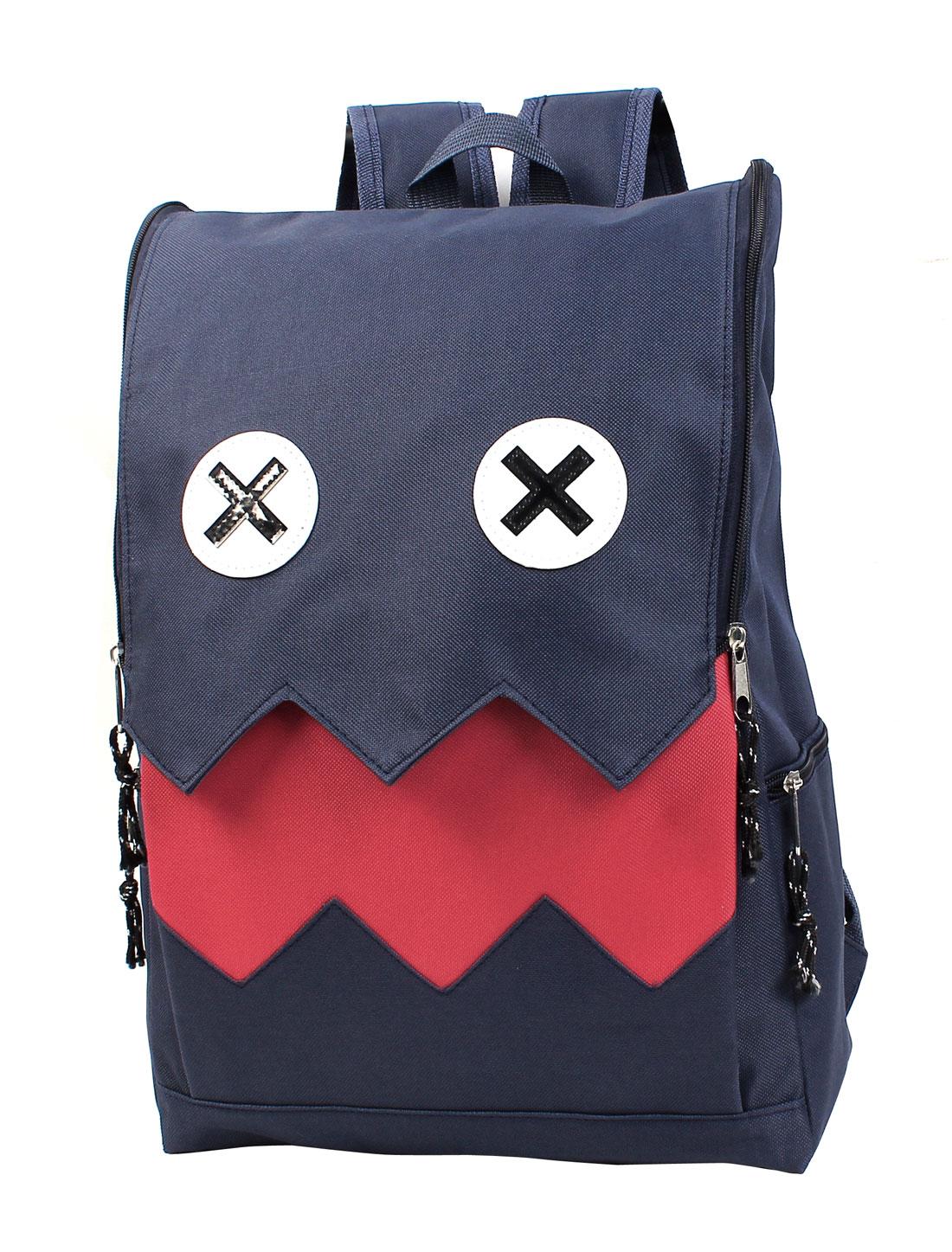 Unisex Vintage Preppy Style Canvas Schoobag Bookbag Campus Knapsack Backpack Blue