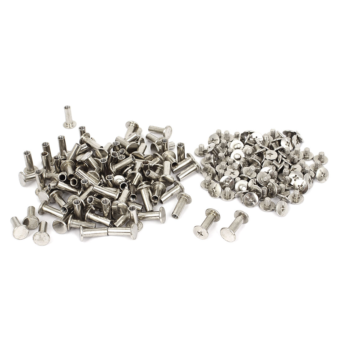 5mmx14mm Nickel Plated Binding Screw Post 100pcs for Scrapbook Photo Albums