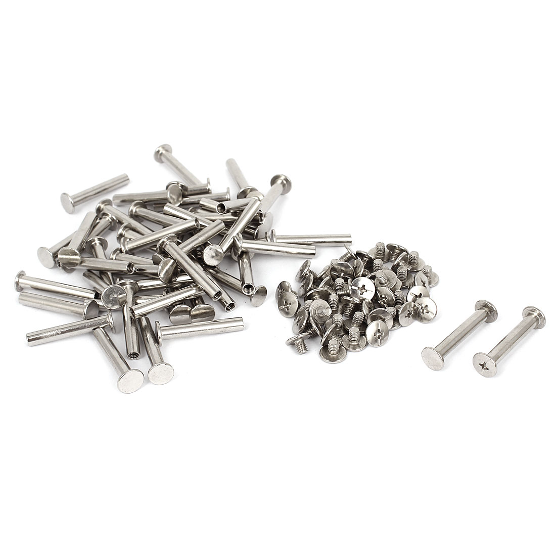 5mmx30mm Nickel Plated Binding Screw Post 50pcs for Scrapbook Photo Albums