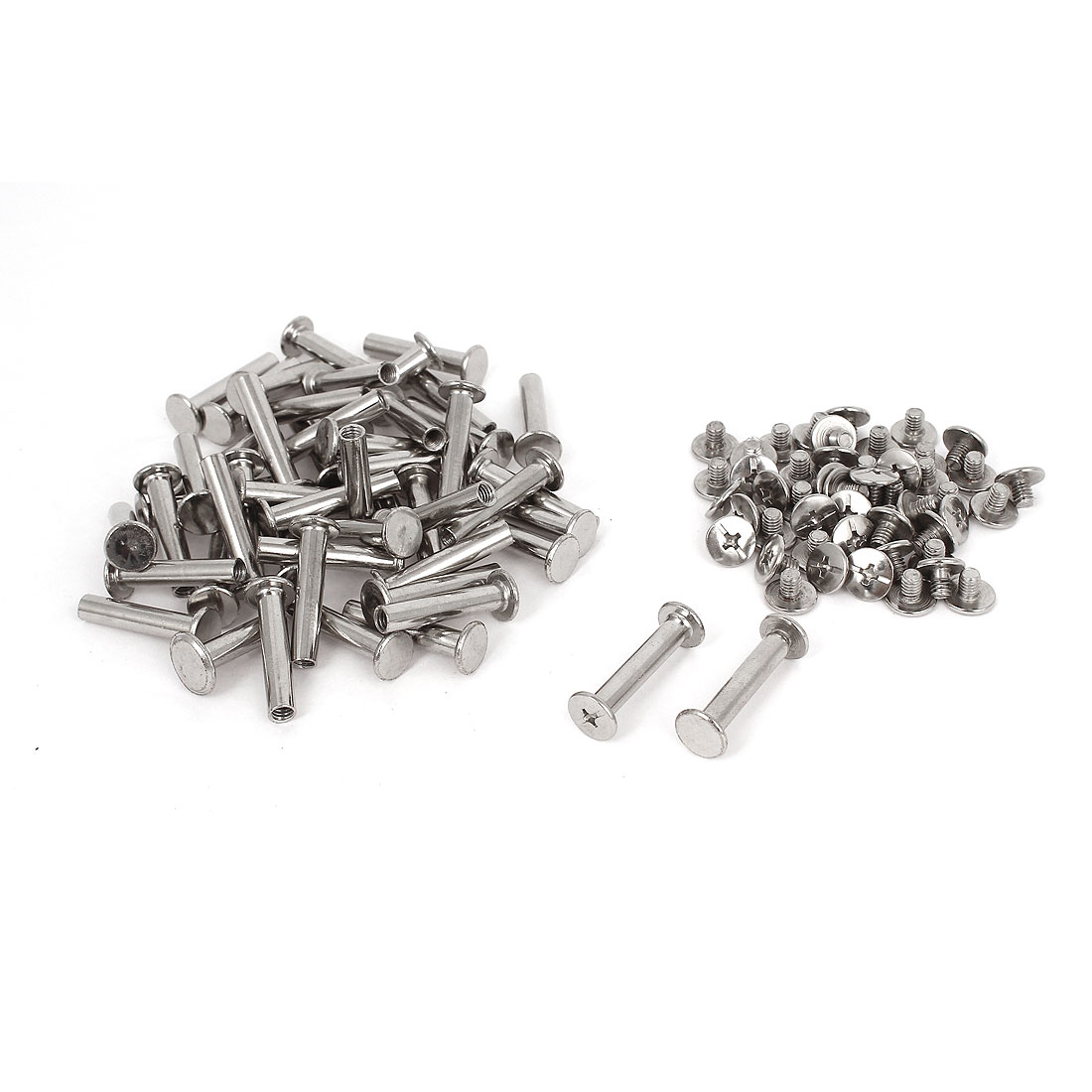 5mmx25mm Nickel Plated Binding Screw Post 50pcs for Scrapbook Photo Albums
