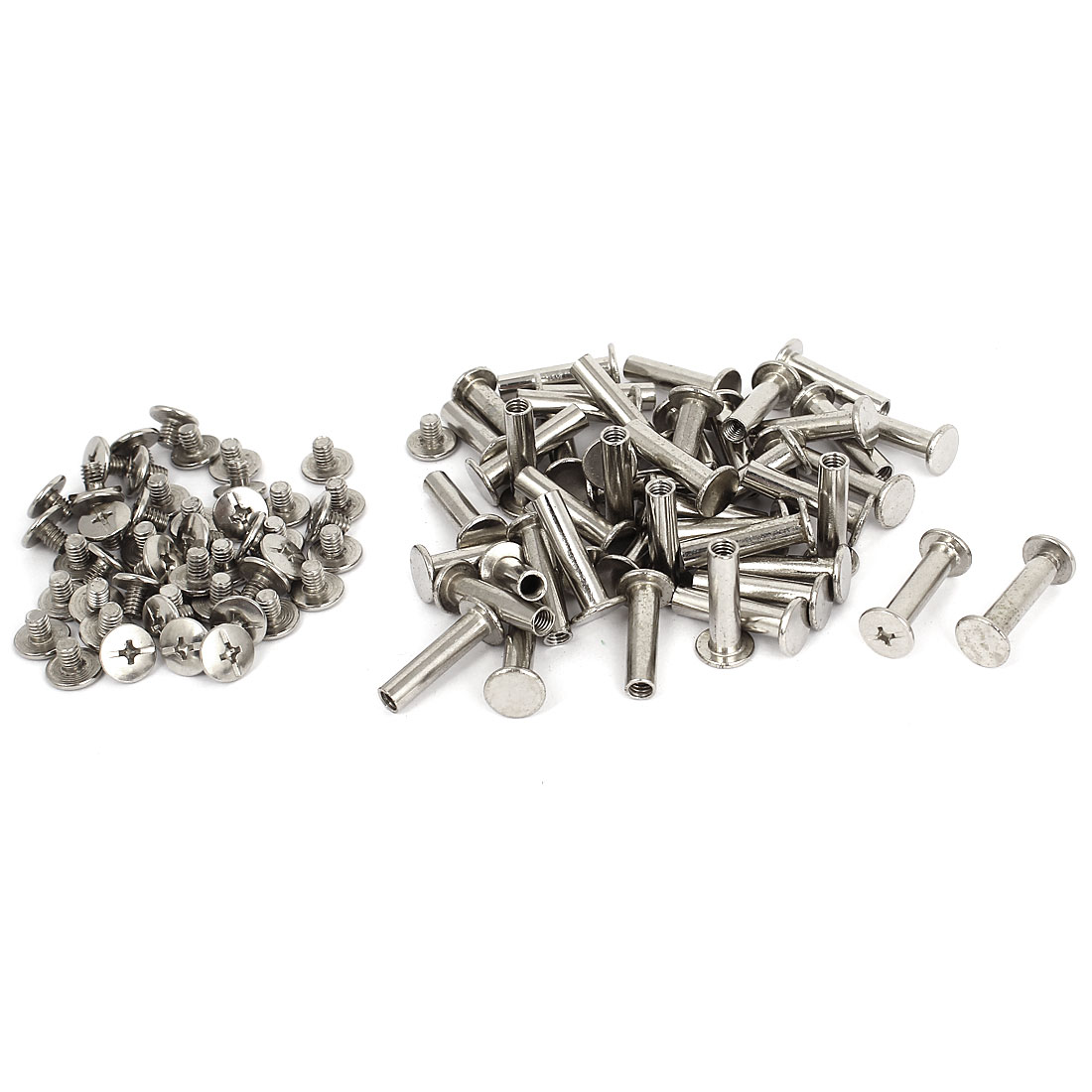 5mmx20mm Nickel Plated Binding Chicago Screw Post for Photo Albums 50pcs