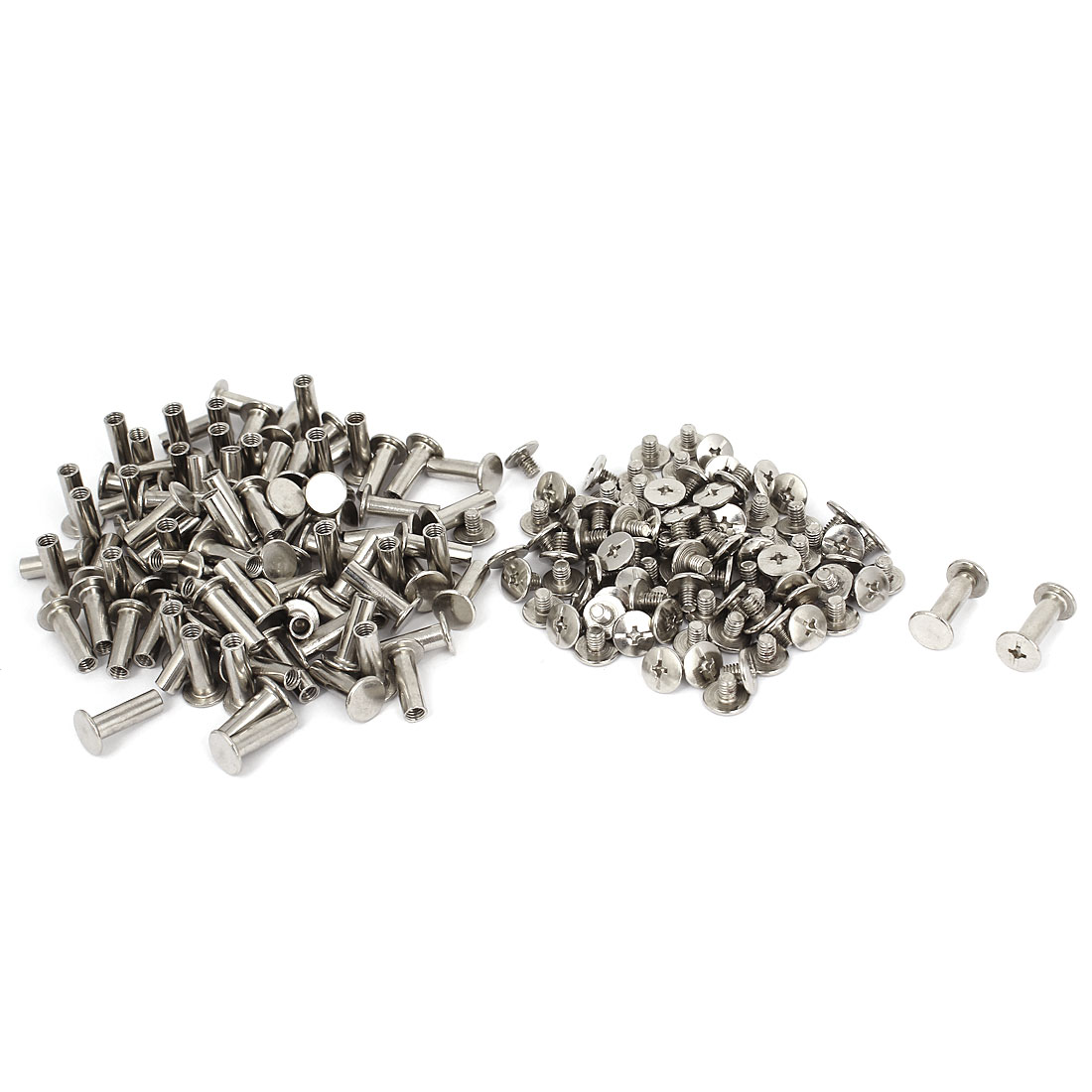 5mmx15mm Nickel Plated Binding Screw Post 100pcs for Scrapbook Photo Albums