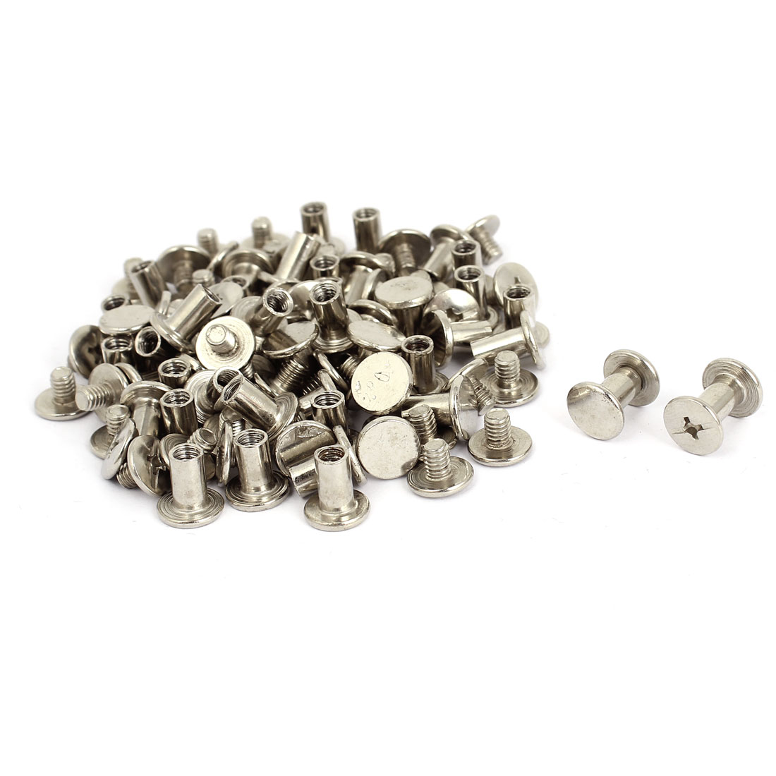 5mmx8mm Nickel Plated Binding Chicago Screw Post for Photo Albums 100pcs