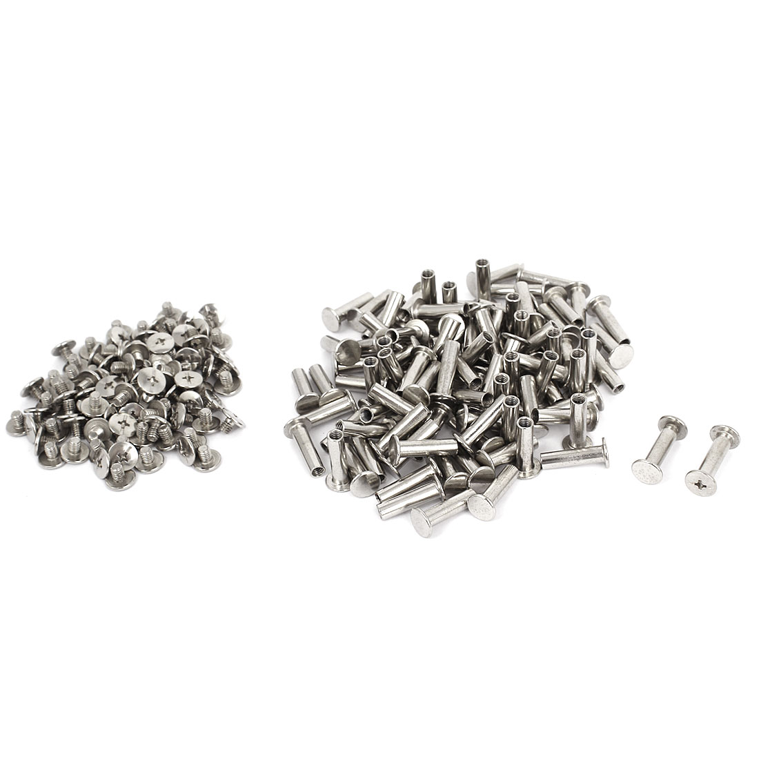 5mmx18mm Nickel Plated Binding Screw Post 100pcs for Scrapbook Photo Albums