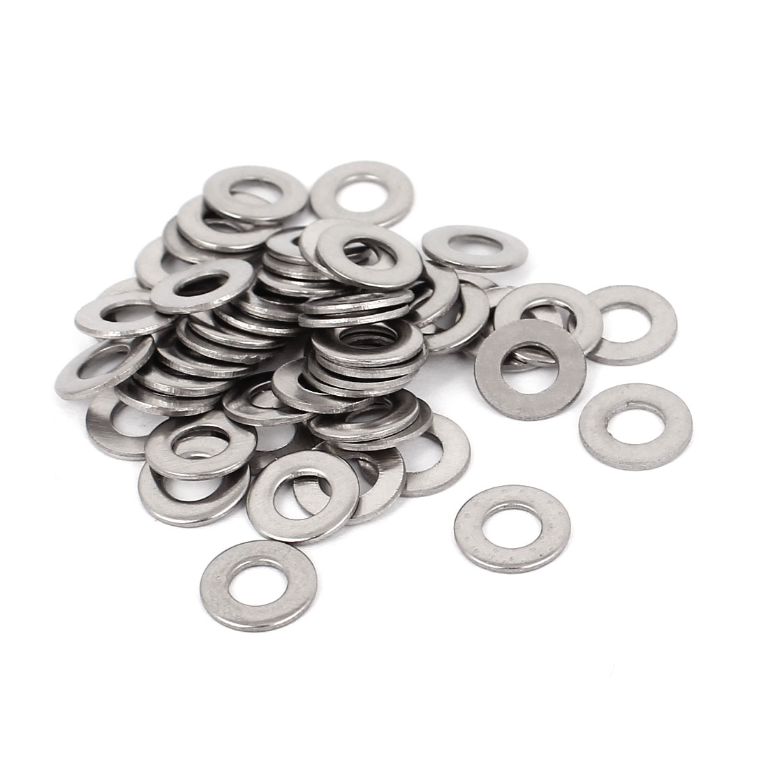 50pcs 304 Stainless Steel Flat Washer #8 Plain Spacer for Screws Bolts