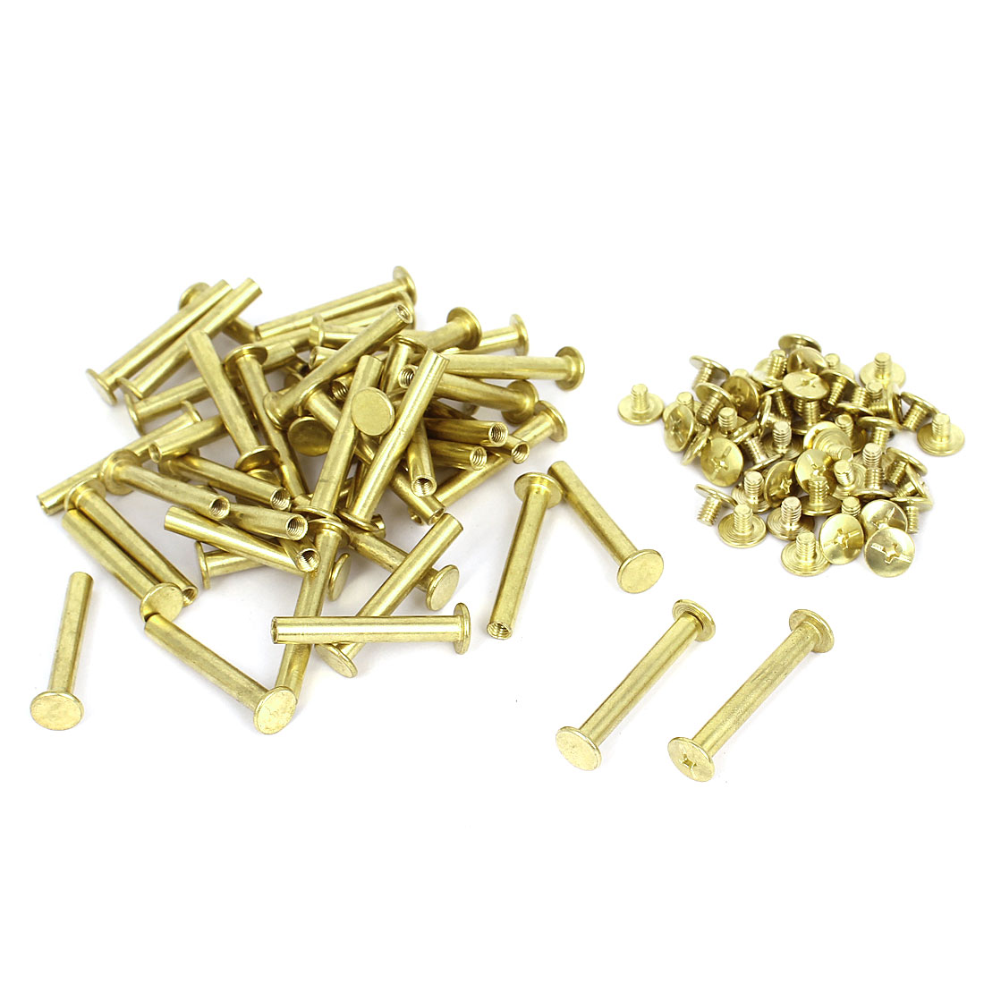 5mmx35mm Brass Plated Binding Chicago Screw Post for Scrapbook Photo Albums 50pcs