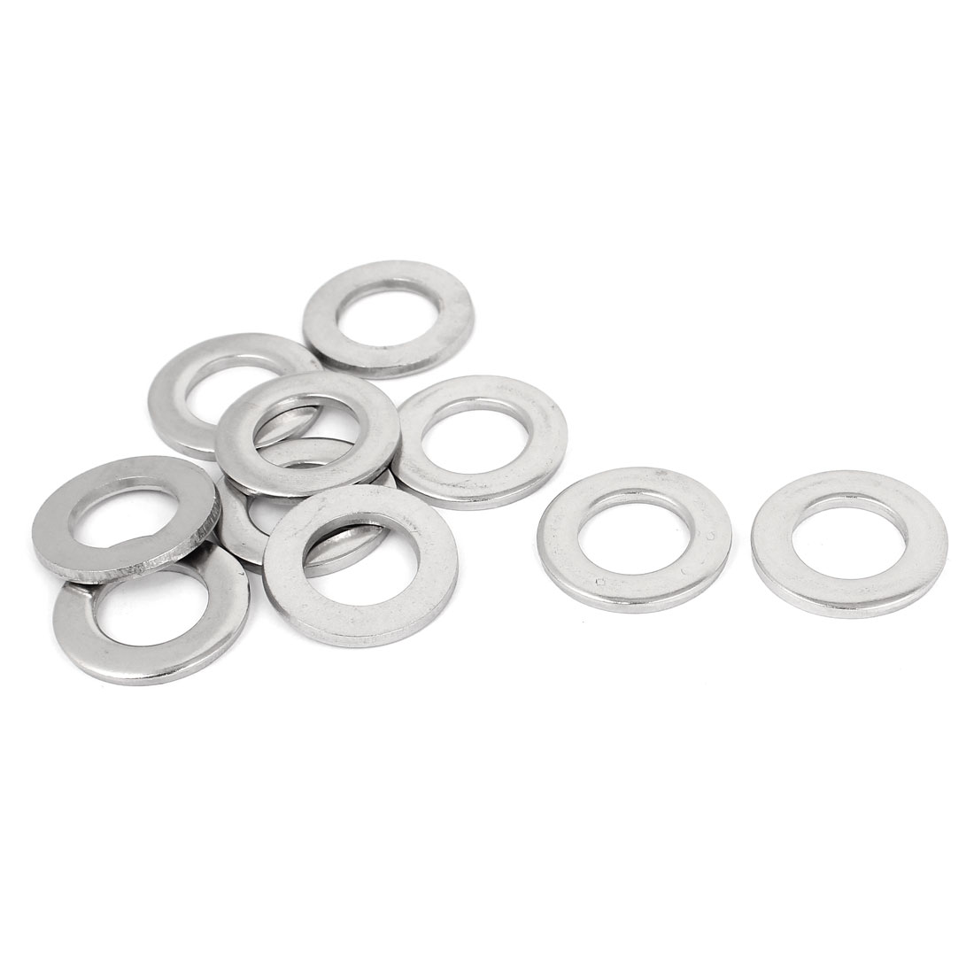 "10pcs Silver Tone 304 Stainless Steel Flat Washer 5/8"" for Screws Bolts"