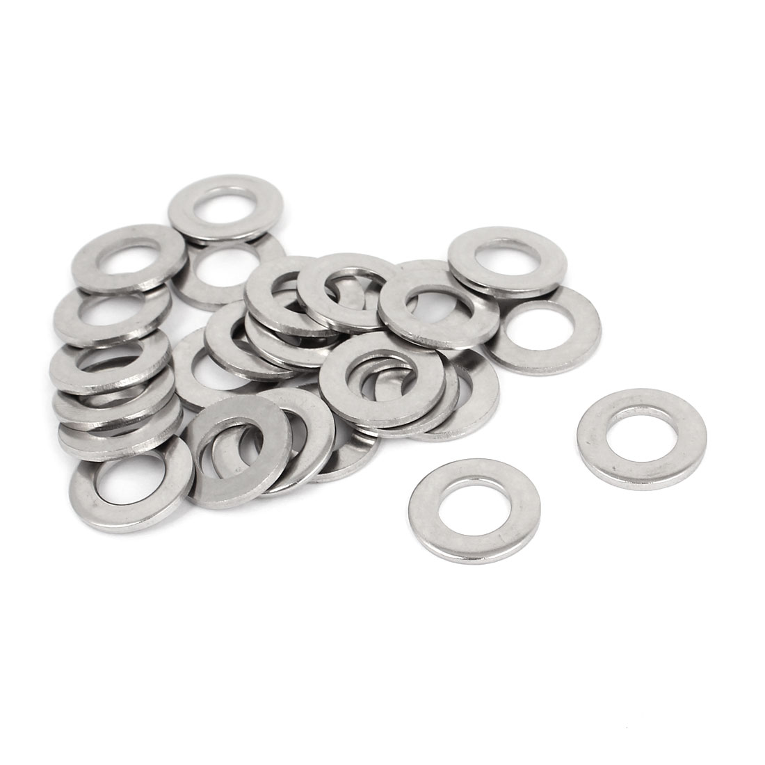 "25pcs Silver Tone 316 Stainless Steel Flat Washer 3/8"" for Screws Bolts"
