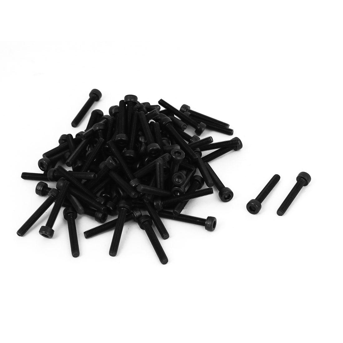 100Pcs M3x20mm 12.9 Alloy Steel Screw Cap Point Hex Socket Screws Bolts