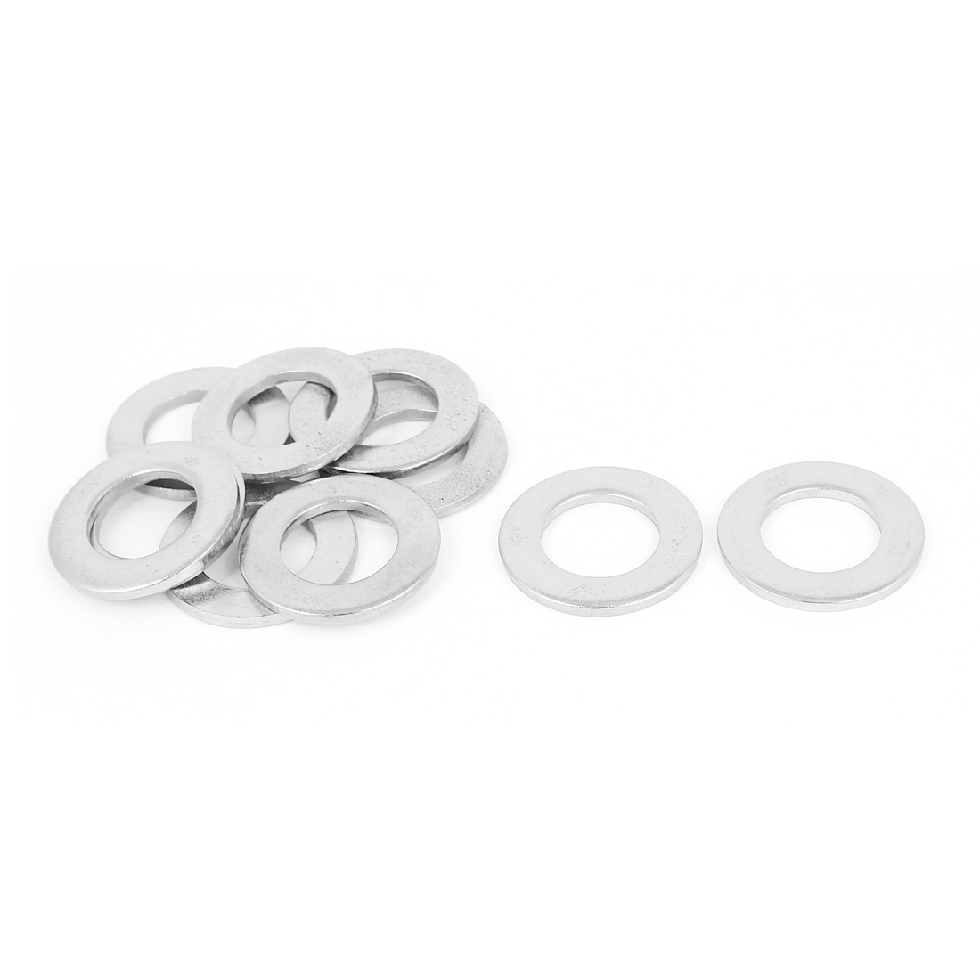 """10pcs Silver Tone 304 Stainless Steel Flat Washer 3/4"""" for Screws Bolts"""
