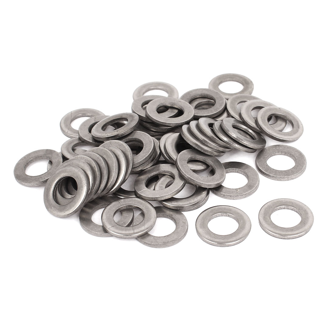 "50pcs Silver Tone 316 Stainless Steel Flat Washer 1/2"" for Screws Bolts"