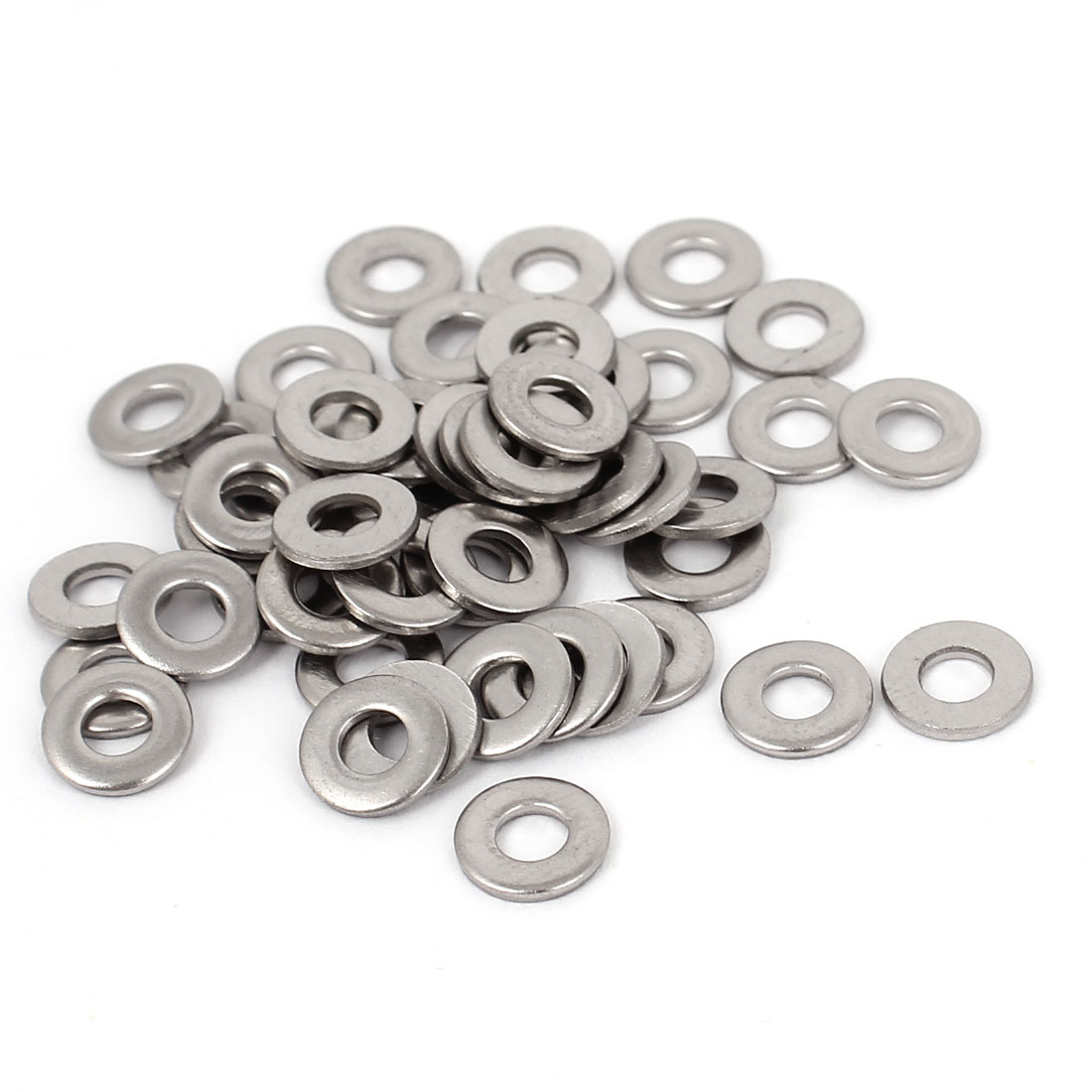 50pcs 316 Stainless Steel Flat Washer #6 Plain Spacer for Screws Bolts