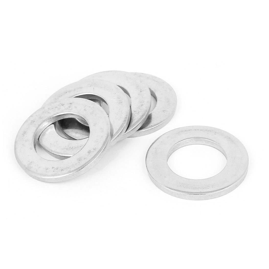 5pcs Silver Tone 316 Stainless Steel Flat Washer 28mm for Screws Bolts