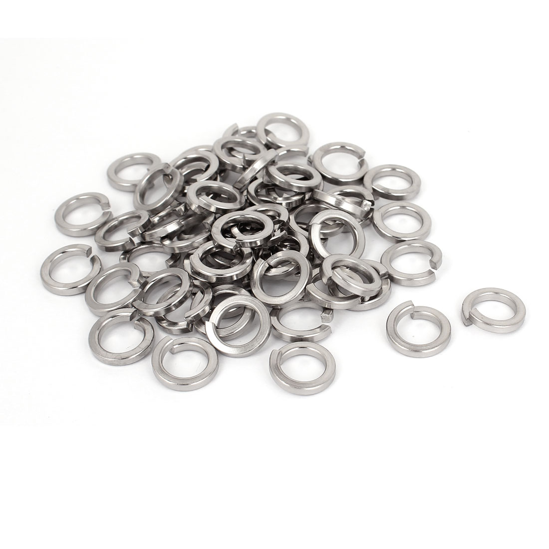 "100pcs 316 Stainless Steel Split Lock Spring Washers 3/8"" Screw Spacer Pad"