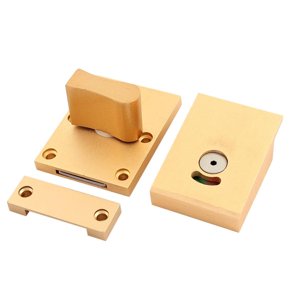 Light Pink Alloy Rotating Handle Knob Satin Toilet Door Lock Indicator Hardware