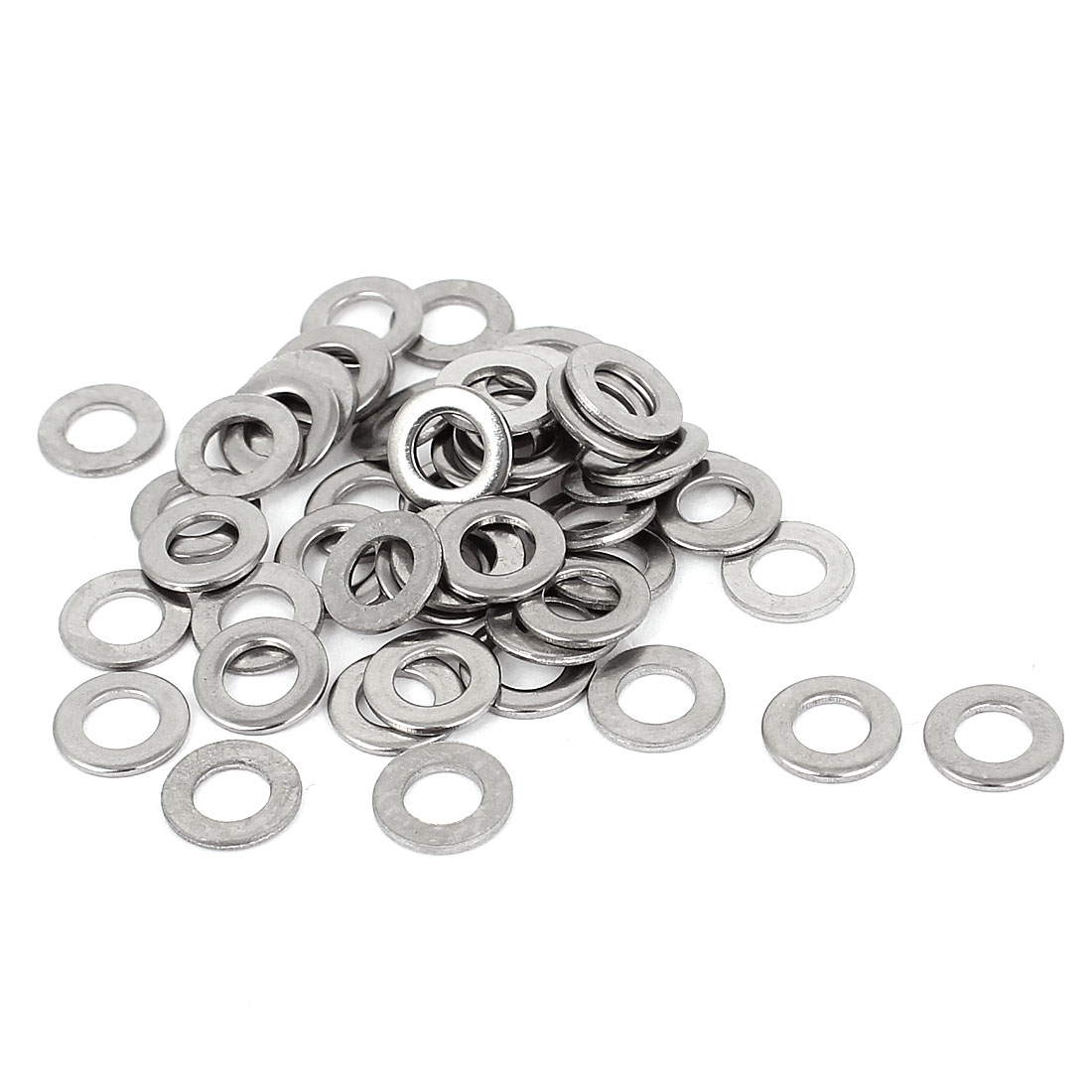 50pcs 316 Stainless Steel Flat Washer #10 Plain Spacer for Screws Bolts