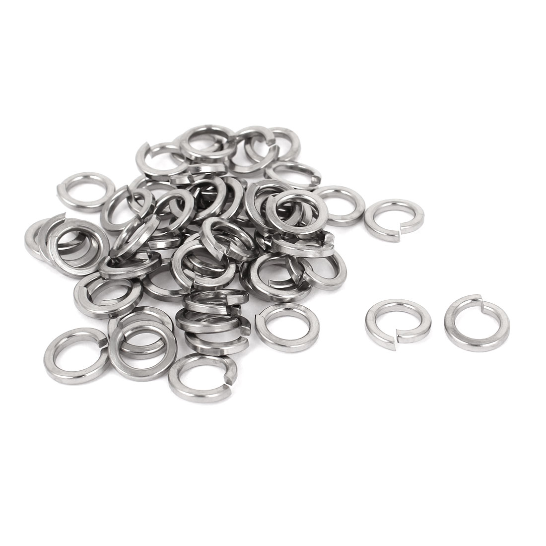 "50pcs 304 Stainless Steel Split Lock Spring Washers 5/16"" Screw Spacer Pad"