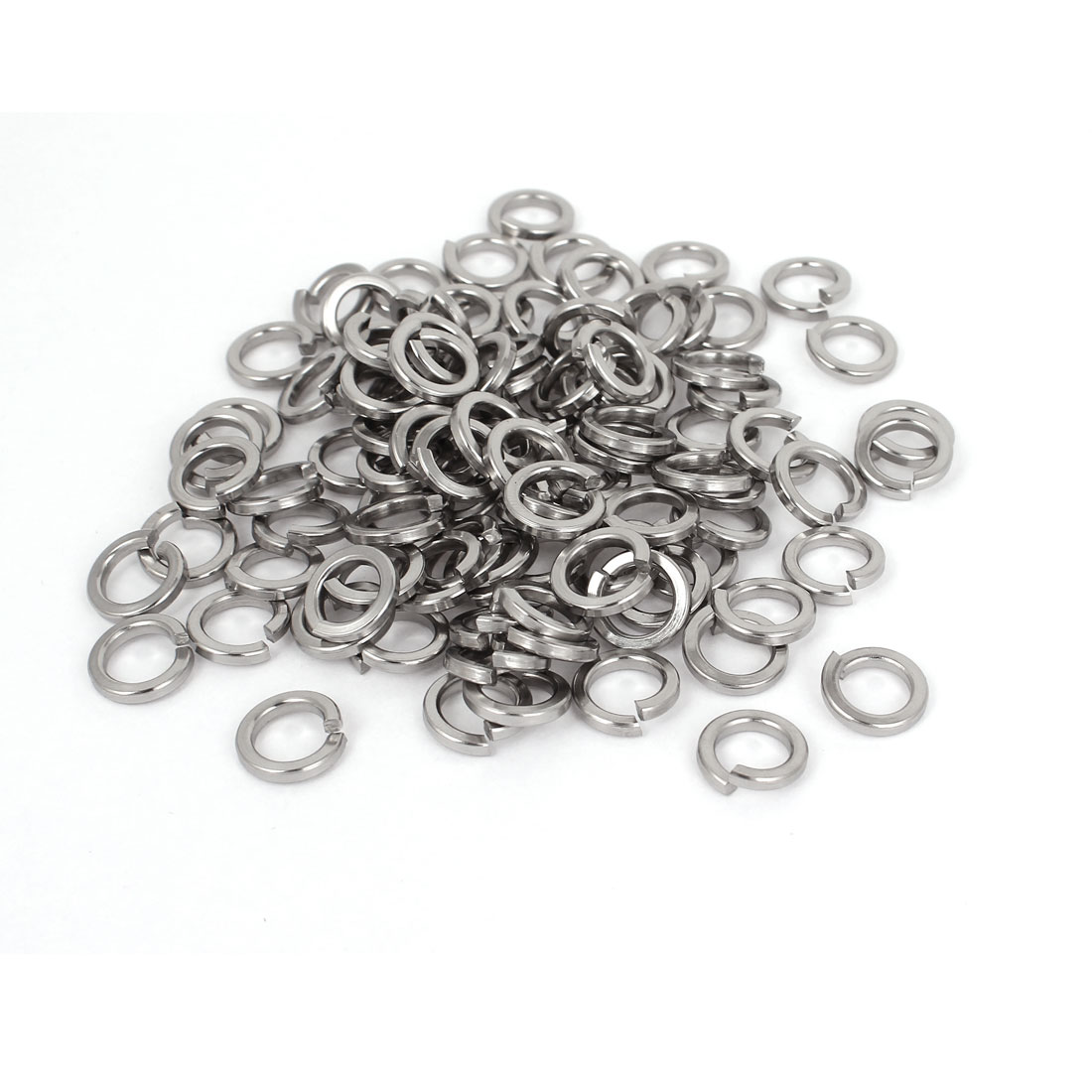 "100pcs 316 Stainless Steel Split Lock Spring Washers 5/16"" Screw Spacer Pad"