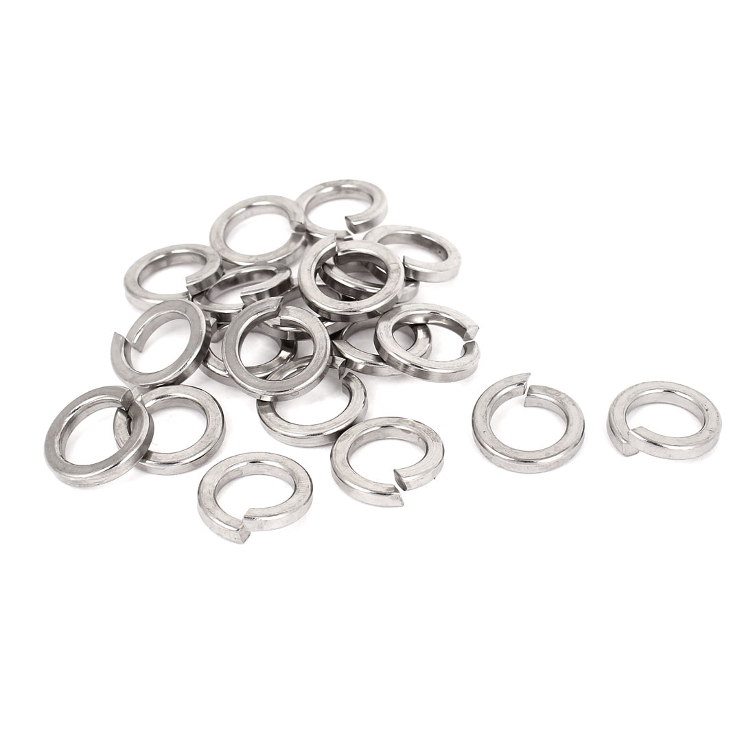 "20pcs 316 Stainless Steel Split Lock Spring Washers 1/2"" Screw Spacer Pad"