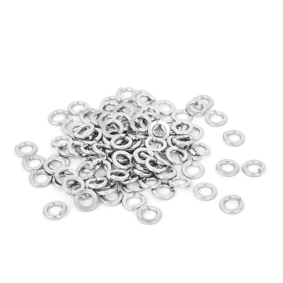 100pcs 304 Stainless Steel Split Lock Spring Washers #6 Screw Spacer Pad