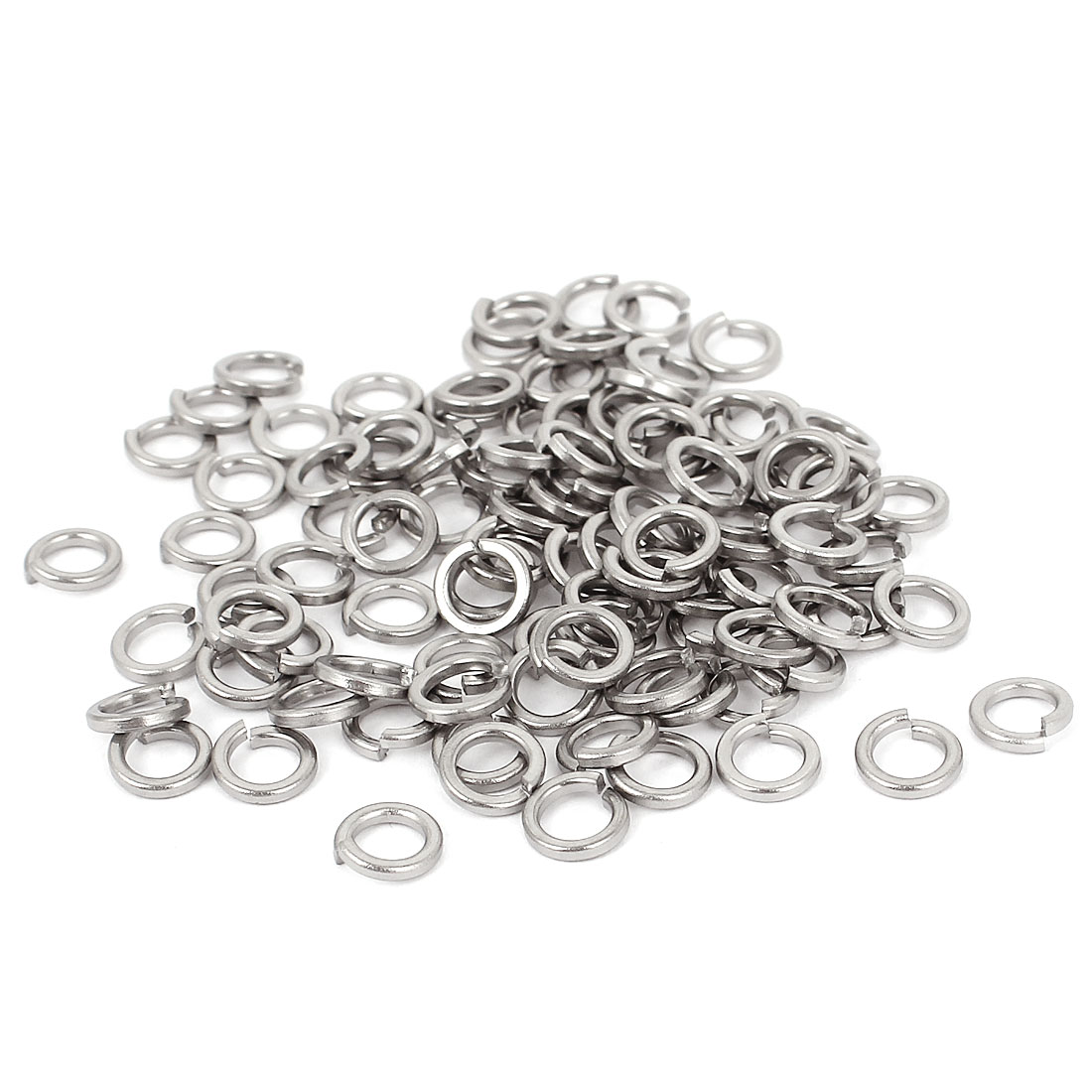 100pcs 304 Stainless Steel Split Lock Spring Washers #10 Screw Spacer Pad