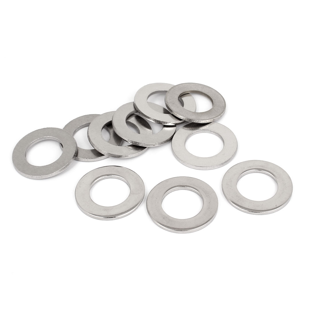 "10pcs Silver Tone 316 Stainless Steel Flat Washer 3/4"" for Screws Bolts"