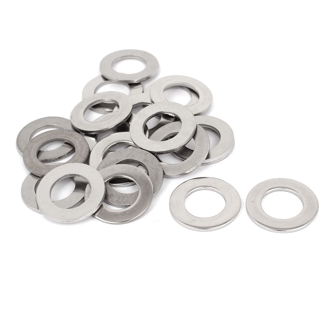 "20pcs Silver Tone 316 Stainless Steel Flat Washer 3/4"" for Screws Bolts"