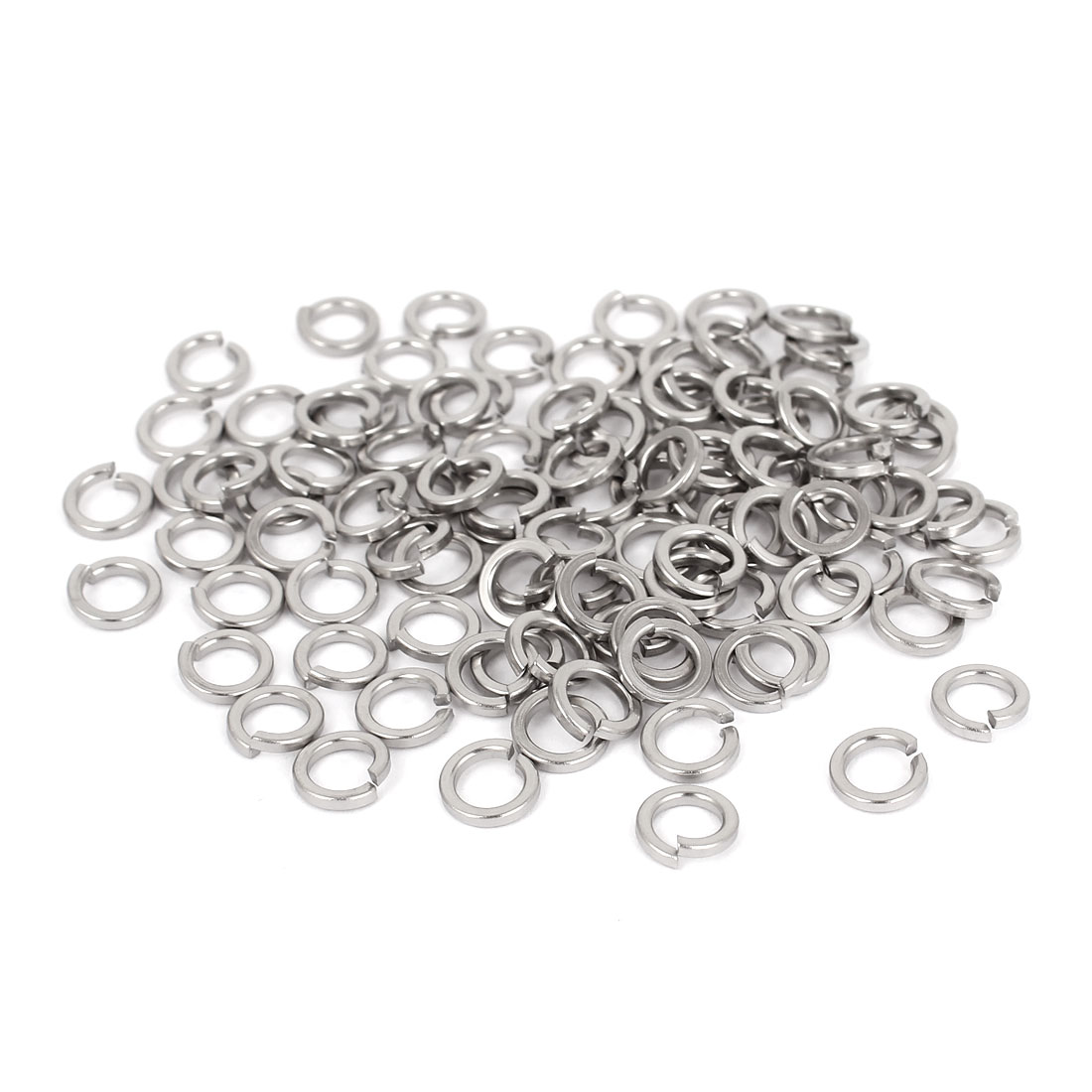 "100pcs 316 Stainless Steel Split Lock Spring Washers 3/16"" Screw Spacer Pad"