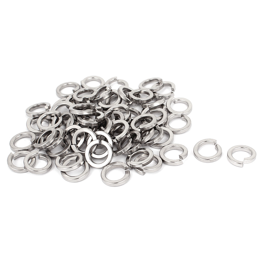 "100pcs 304 Stainless Steel Split Lock Spring Washers 3/8"" Screw Spacer Pad"