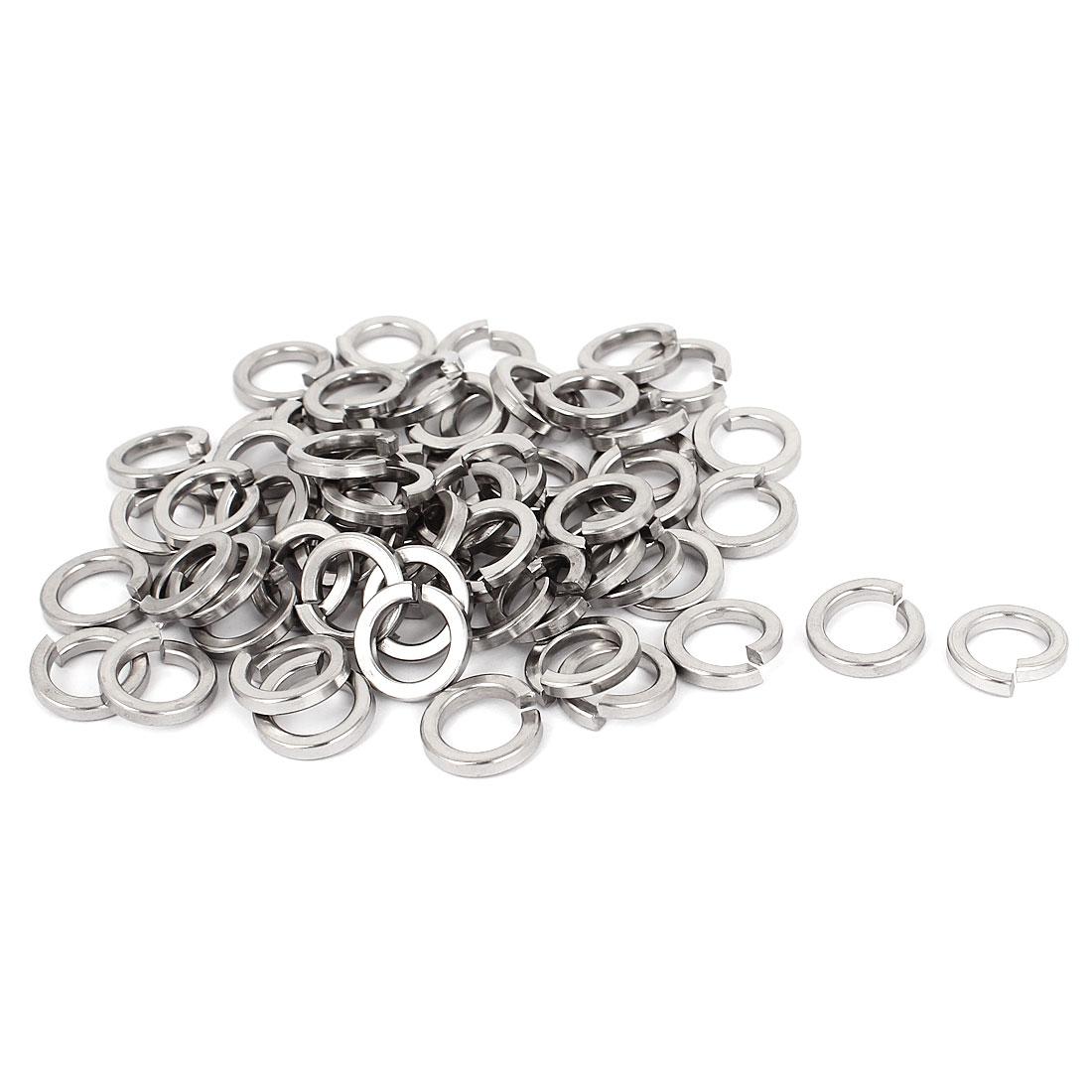 "100pcs 304 Stainless Steel Split Lock Spring Washers 3/8"" Screw Spacer Pad"