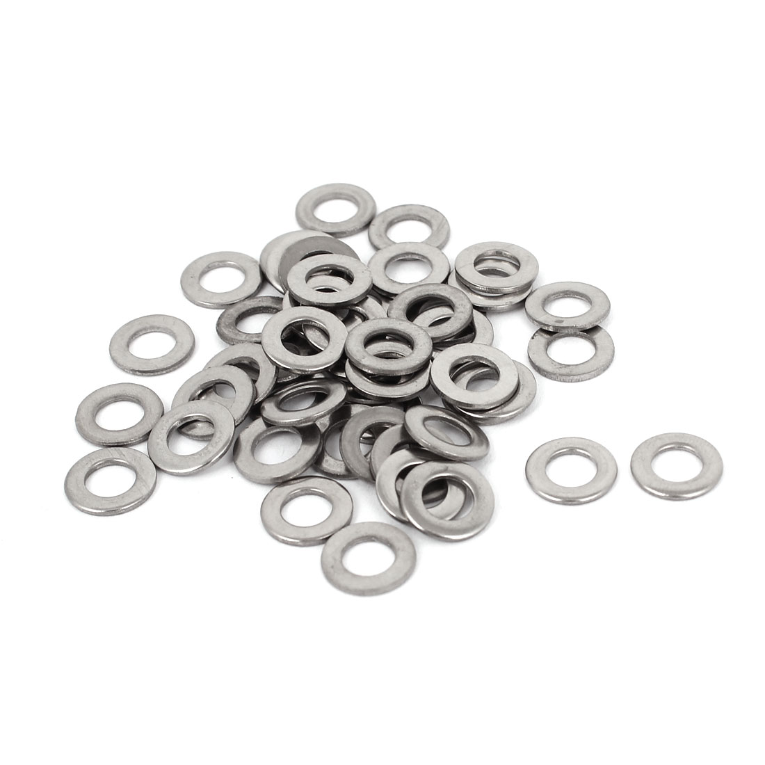 50pcs 304 Stainless Steel Flat Washer #10 Plain Spacer for Screws Bolts
