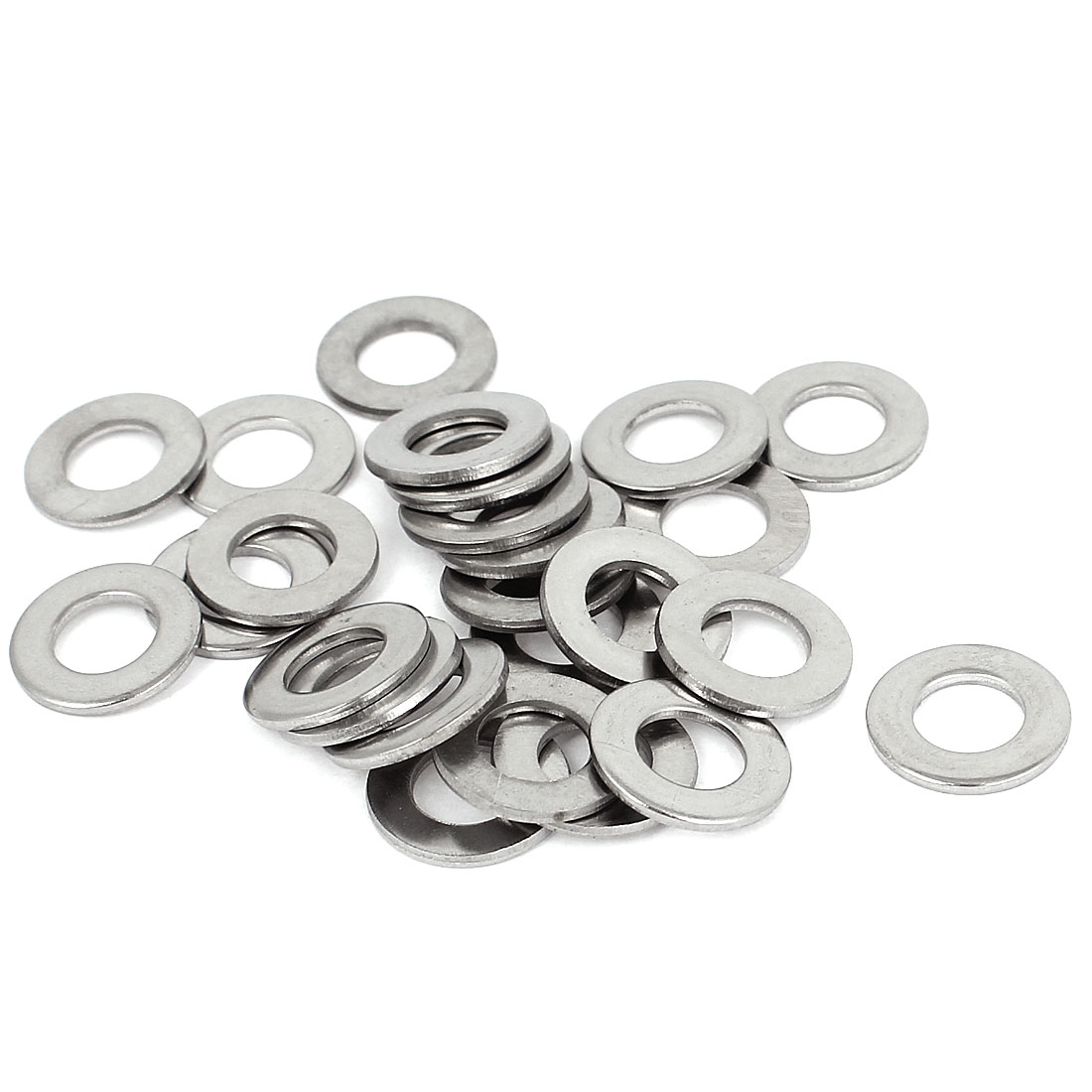 "25pcs Silver Tone 304 Stainless Steel Flat Washer 5/16"" for Screws Bolts"