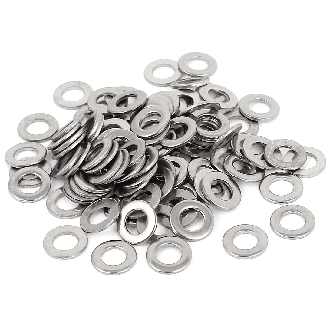 "100pcs Silver Tone 316 Stainless Steel Flat Washer 3/16"" for Screws Bolts"