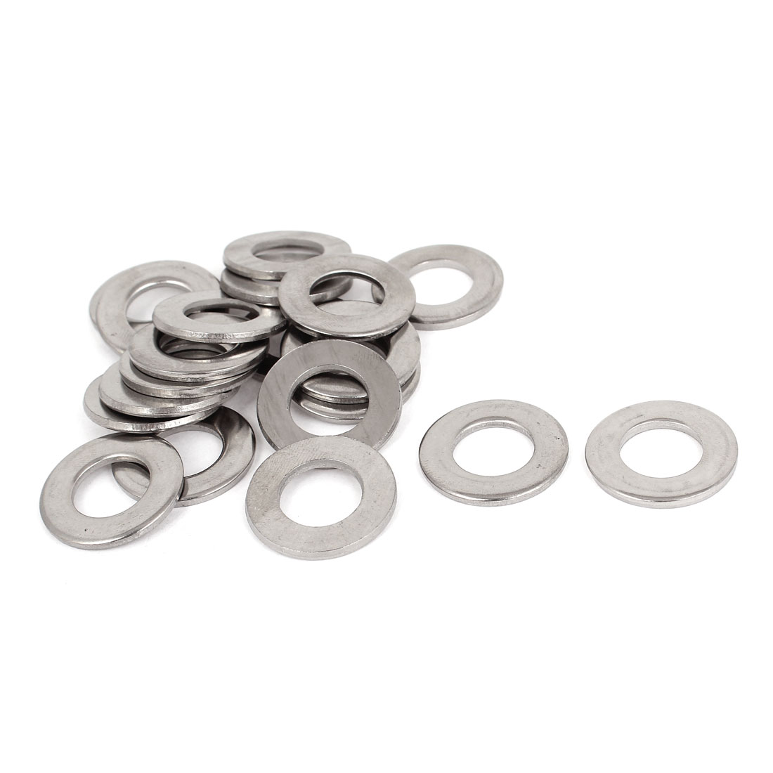 "20pcs Silver Tone 316 Stainless Steel Flat Washer 9/16"" for Screws Bolts"