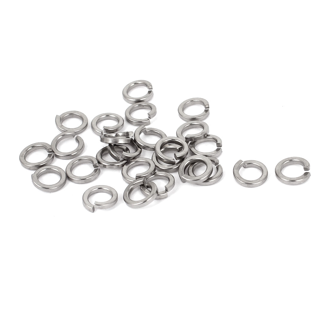 "25pcs 304 Stainless Steel Split Lock Spring Washers 1/4"" Screw Spacer Pad"