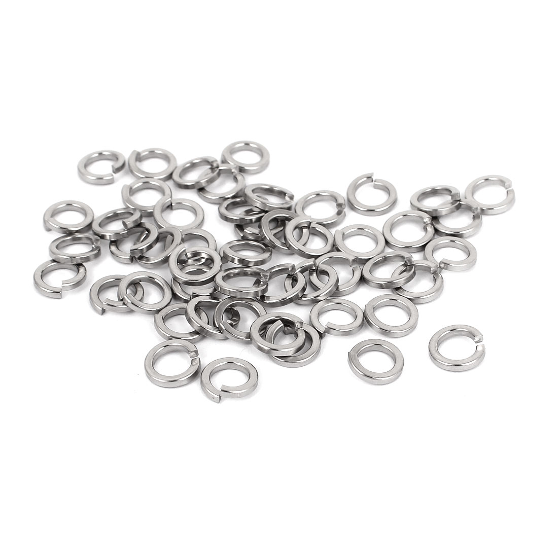 "50pcs 316 Stainless Steel Split Lock Spring Washers 1/4"" Screw Spacer Pad"