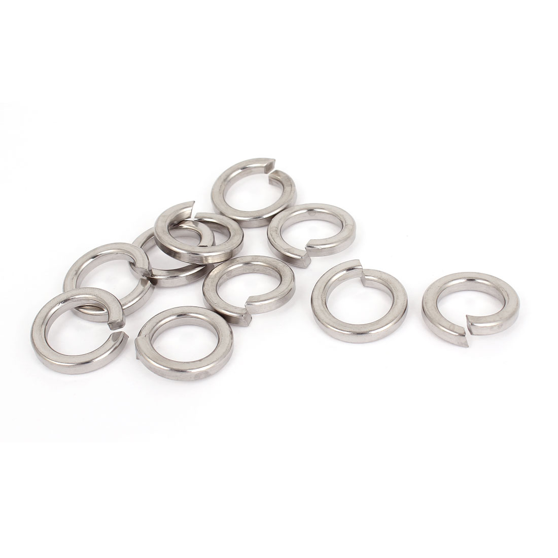 "10pcs 316 Stainless Steel Split Lock Spring Washers 5/8"" Screw Spacer Pad"