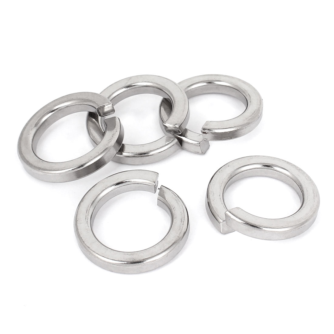 "5pcs 316 Stainless Steel Split Lock Spring Washers 25mm 1"" Screw Spacer Pad"