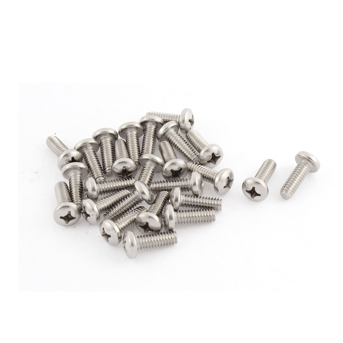 "24mm Long 1/4""x20x3/4"" Stainless Steel Phillips Cross Head Screws 25 Pcs"