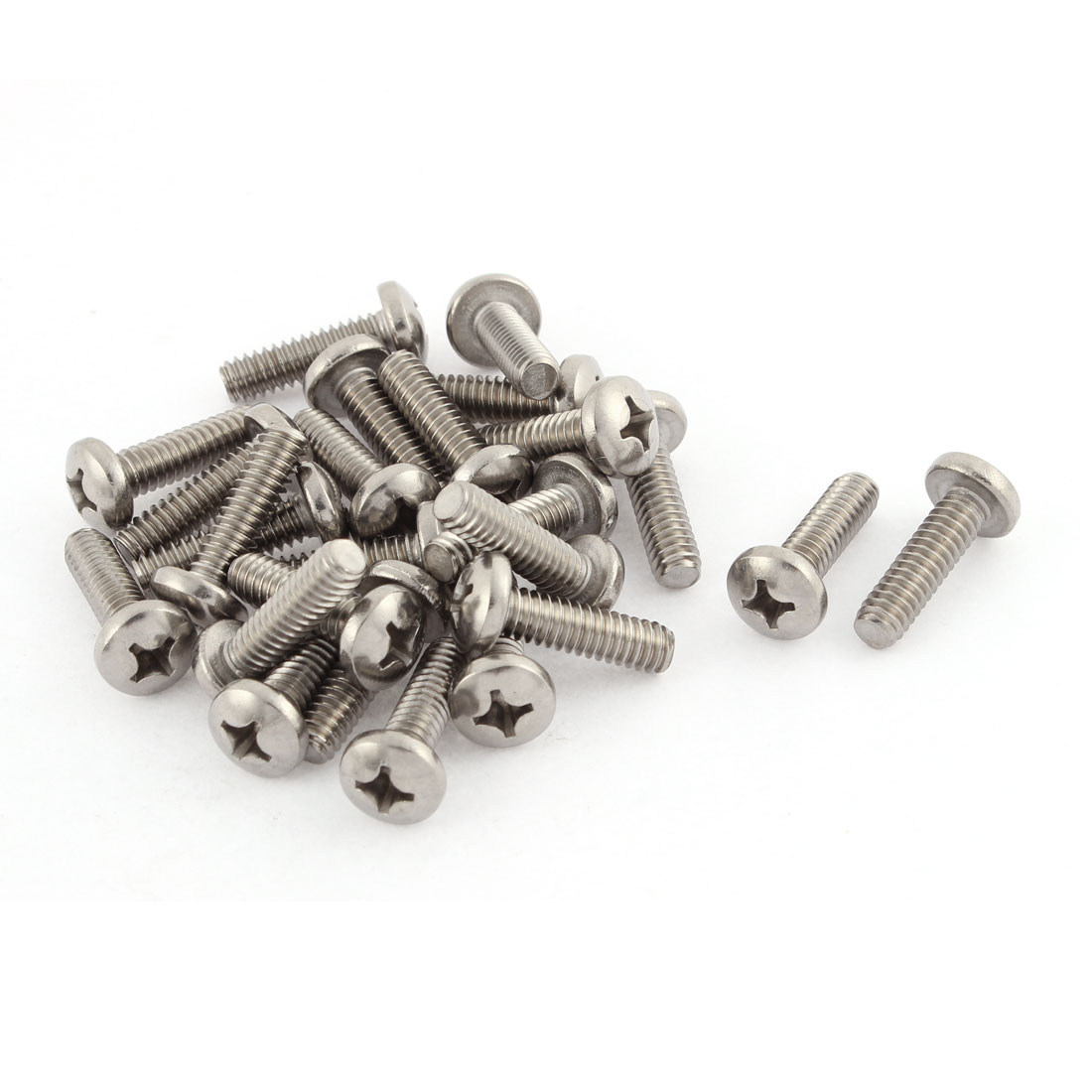 "27mm Long 1/4""x20x7/8"" Stainless Steel Phillips Truss Head Screws 25 Pcs"