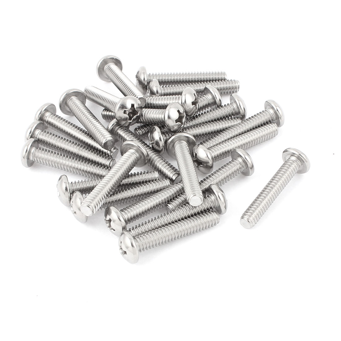 "39mm Long 1/4""x20x1-3/8"" Stainless Steel Phillips Cross Head Screws Bolts 25 Pcs"