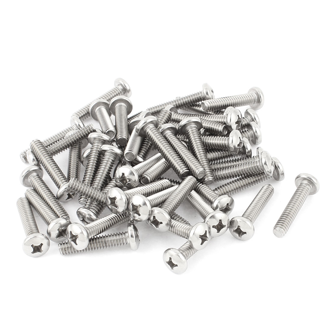 "36mm Long 1/4""x20x1-1/4"" Stainless Steel Phillips Cross Head Screws Bolts 50 Pcs"
