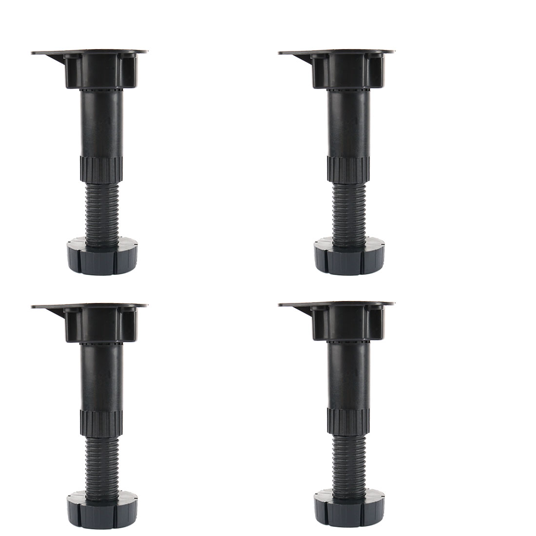 Black Adjustable Height Cabinet Cupboard Leg Foot for Kitchen Bathroom